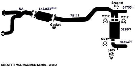 AP Exhaust Products 700359 Exhaust Muffler