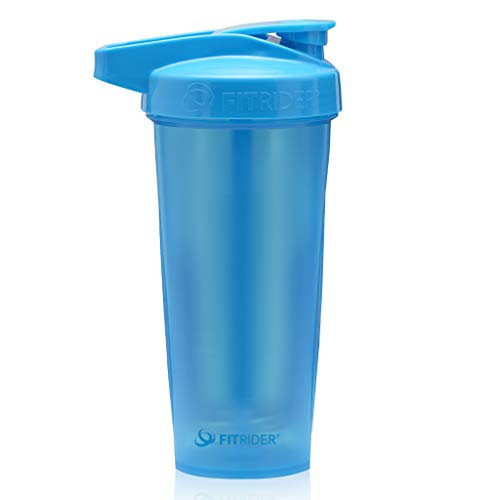 PerfectShaker Performa - ACTIV Shaker Bottle, Best Leak Free Bottle with Actionrod Mixing Technology for Your Sports & Fitness Needs! Dishwasher and Shatter Proof (ACTIV Light Blue)