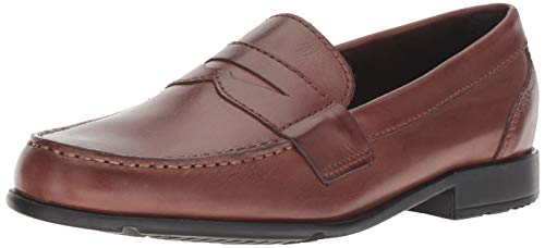 Rockport Men's Classic Lite Penny Loafer, Dark Brown, 10 M US