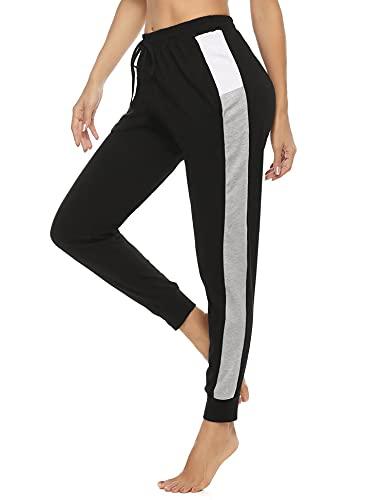 Akalnny Sportbroek voor dames, trainingsbroek, lange sportbroek, met veters, voor fitnessstudio, yoga, joggen.