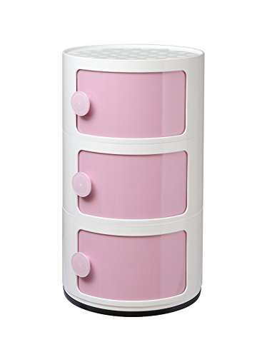 Storage Underwear Toys Snacks Books Combination Organizer Cosmetics Holder Storage Cabinet (3 layers, Pink) by OTS