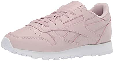 Reebok Women's Classic Leather Sneaker, Ashen Lilac/White, 5 M US
