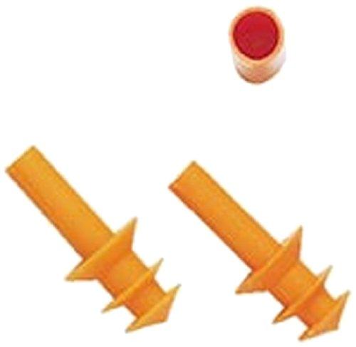 Vulcan Tool 9108 Tri-Fit (BG) Silicone Pre-Molded Earplugs, NRR=25, Uncorded in Bags, Medium, Orange (Pack of 100) by Vulcan Tool   B00I9X8GOM