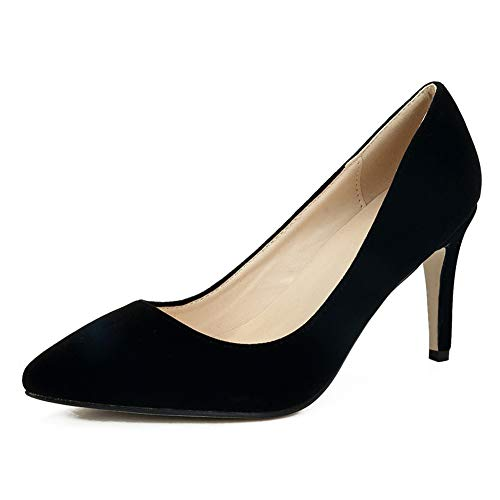 - fereshte Women's Classic Pointy Toe Stiletto High Heel Wedding Dress Pumps Shoes Black EU38