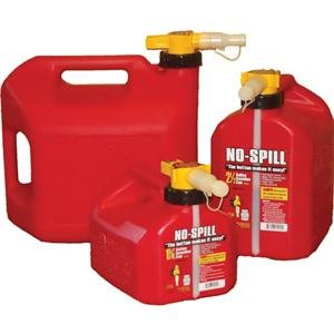 Plastic Gas Cans >> No Spill Gas Can 1 25 Gallon Red