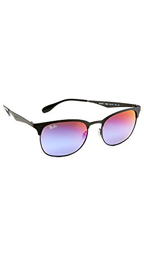 Ray-Ban Metal Unisex Wayfarer Sunglasses, Black/Matte Black, 53 - Metal Ban Ray Wayfarer