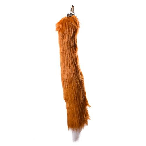 Life-like Red Fox Tail Clip-On Accessory for Red Fox Cosplay, Red Fox Costume, Pretend Animal Play or Zoo Animal Party ()