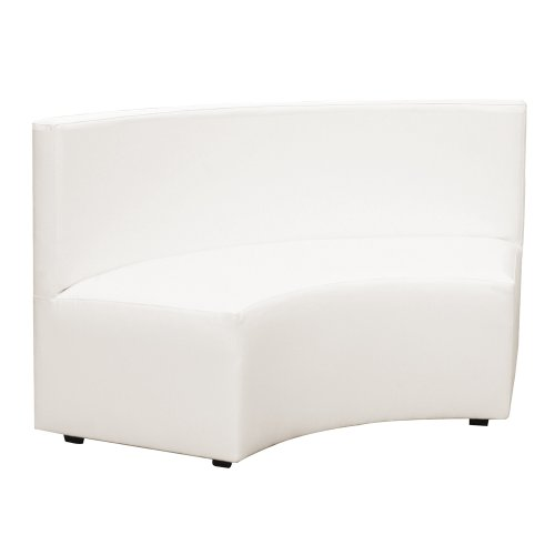 Howard Elliott Q820-944 Universal Radius InCurve Banquette, Atlantis White (And Table Banquette Chairs)