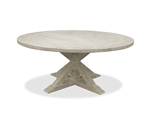 """South Cone Home Bayliss Round Dining Table, 72"""", White"""