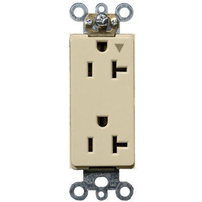 Morris 81915 Isolated Ground Decorative Duplex Receptacle, 20 Amp Current, 125V, Ivory - Decorative Duplex Receptacle