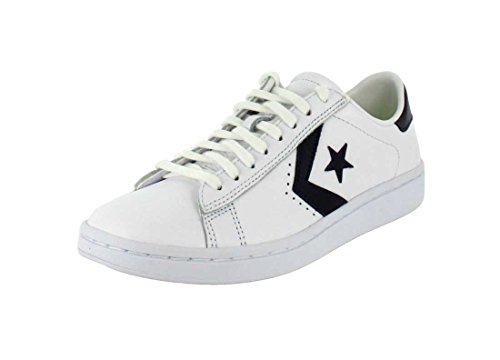 (Converse Womens Pro Leather LP White/Obsidian/White Sneaker - 10)