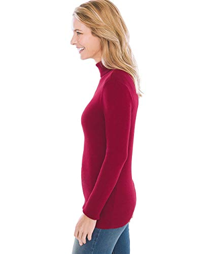 Chicos Womens Coolmax Pullover Turtleneck Sweater with Moisture Wick Technology