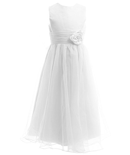 Fairy Couple Girl's A-line Sleeveless Ankle Length Junior Bridesmaid Flower Girl Dress K0125 14 (Teen Christmas Dress)