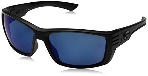 Costa Del Mar Cortez Sunglasses, Blackout, Blue Mirror 580 Plastic Lens by Costa Del Mar