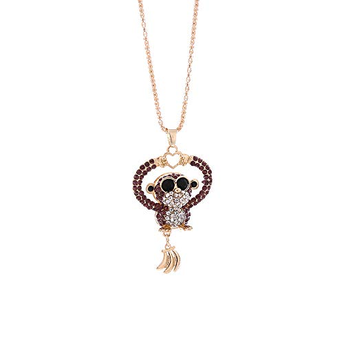 Thenxin Birthstone Cute Monkey Pendant 29.5