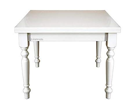 Amazon De Tisch Quadratisch 100x100 Cm Aus Holz Fur Esszimmer Kuche