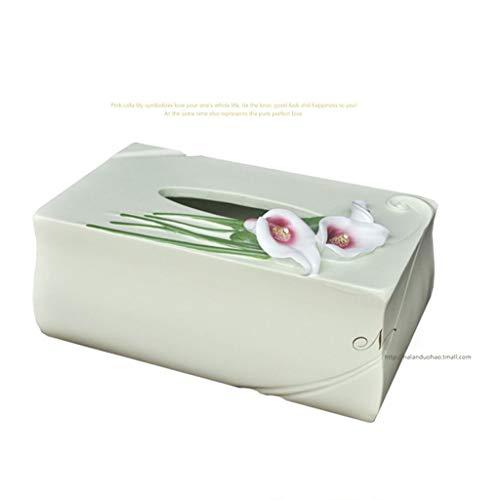 HEMFV Rectangular Tissue Box Cover, Lovely Flower
