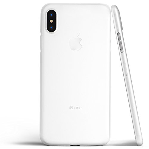 totallee iPhone X Case, Thinnest Cover Premium Fit Ultra Thin Light Slim Minimal Anti-Scratch Protective - for Apple iPhone X (2017) (Frosted White)