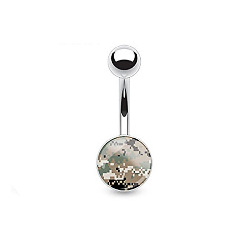 camouflage belly button rings - 4