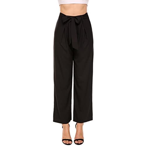 Cheap ELESOL Women's Casual Loose Fit High Waist Palazzo Lounge Pants with Belt supplier