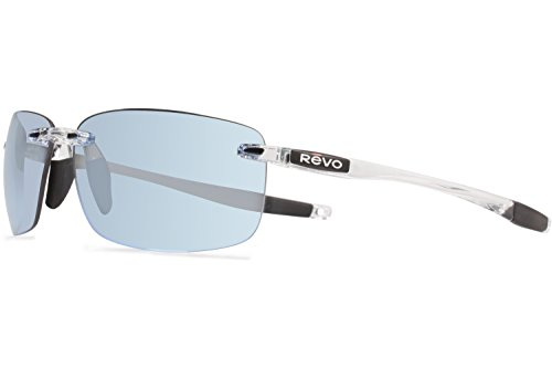 Revo Descend N RE 4059 09 BL Polarized Rectangular Sunglasses, Crystal, 64 - Revo Polarized