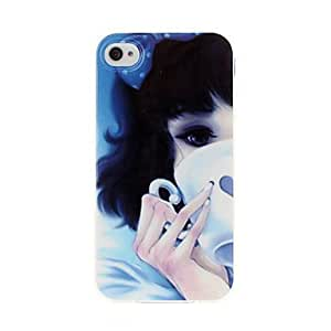 GJYTasting Coffee Girl TPU Soft GEL Back Case Cover for iPhone 4/4S