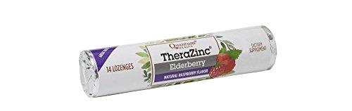Quantum Health TheraZinc Elderberry Raspberry Lozenges Roll, Immune Support in Tasty USDA Organic Drops, 14 Count