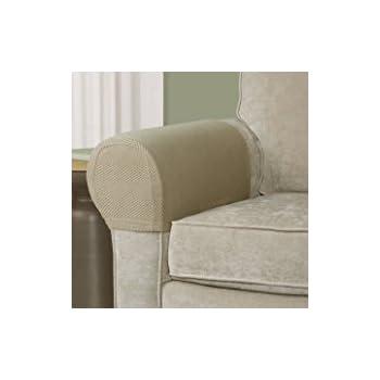 Merveilleux Set Of 2 Stretch Armrest Covers (Tan)