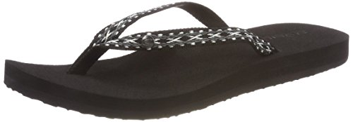 Out 9010 Tongs Black Flip Femme Fw Strap O'Neill Schwarz Flops Woven Thin UHYOzRP