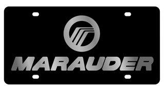 - Mercury Marauder License Plate on Black Steel