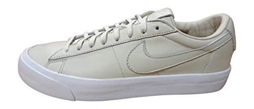 Nike Mens Blazer Studio Qs Alla Moda Sneaker In Pelle Alla Moda Alla Caviglia-light Bone / Light Bone-white