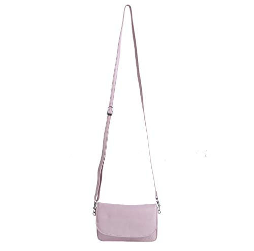 Women Pink Leather Protection Tote Handbags Soft Handmade Baby RFID nbsp;with Handbags Shoulder Bags r16fqrYn