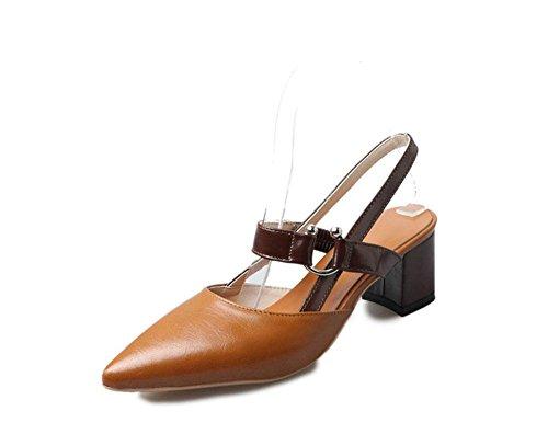 forma zapatos MEILI es femenina en La gruesa 1 con moda U de TS4wnx