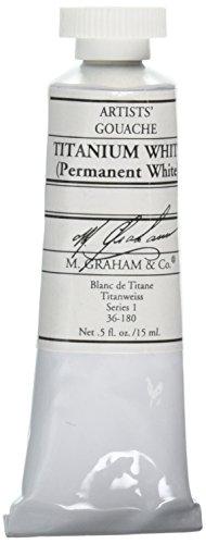 M. Graham 1/2-Ounce Tube Gouache Paint, Titanium White (M Graham Titanium White)