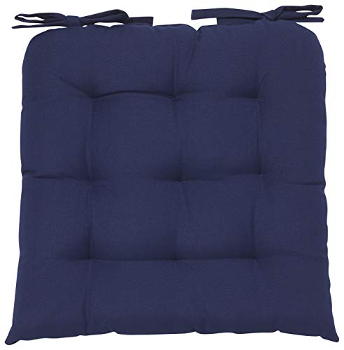 Now Designs Renew Collection Padded Chair Cushion, Indigo Blue