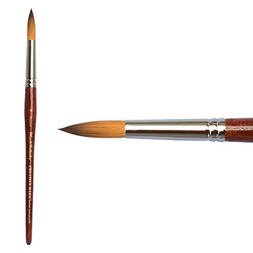 Creative Mark Mimik Kolinsky Professional Artist Synthetic Sable Short Handled Brush- Round #4