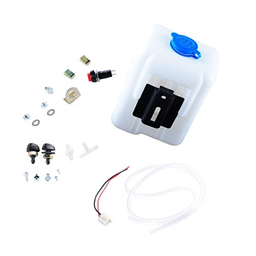 Swess Car Windshield Washer Pump Universal Reservoir Kit 99300 Fluid Reservoir Tank Bottle with Pump