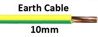 EARTH CABLE GREEN & YELLOW 6491X PER METER SIZE 10MM SEL 6941X