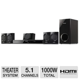 Amazon Com Panasonic 1000 Watt 5 1 Channel Dvd Home Theater System