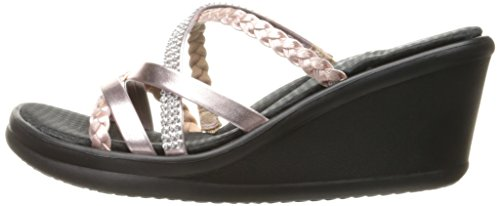 Skechers Cali Women's Rumblers-Social Butterfly Wedge Sandal,Rose Gold,7.5 M US by Skechers (Image #5)