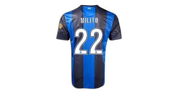 New Soccer Jersey Javier Diego Milito Inter Milan Home