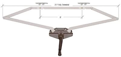 """CRL Awning Window Operator, Dual Pull, Roto-Gear, Bronze, 25"""" Fully Extended"""