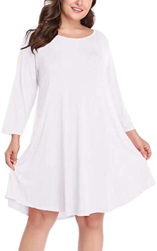 پیراهن آستین کوتاه 3/4 آستین بلند LARACE ، پیراهن پیراهن آستین نوسان ساده