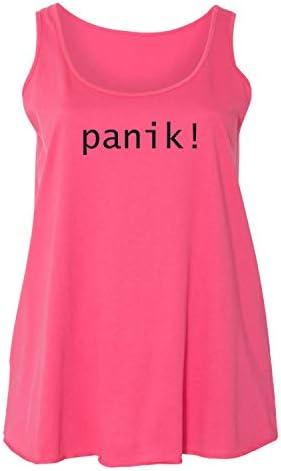 zerogravitee Panik Camiseta sin mangas para mujer