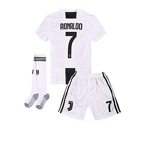 79ec3e140 2018-2019 Home C Ronaldo  7 Juventus Kids Or Youth Soccer Jersey   Shorts