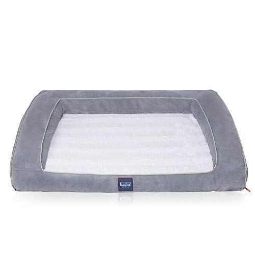 Laifug Orthopedic Memory Foam Dog Bed,Sofa-Style,Larger Size, Waterproof Liner, Washable Removable Luxury Plush Cover