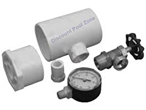 Pvc replacement 2in pool pressure test kit swimming pool liquid test kits for Swimming pool test kits amazon