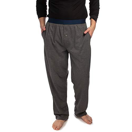 Ecko Knit Sleep Pants for Men Pajamas for Boys Teen Super Soft Lounge Pants Men with Pockets Cool Sleeping Pajamas Adult PJs Grey ()