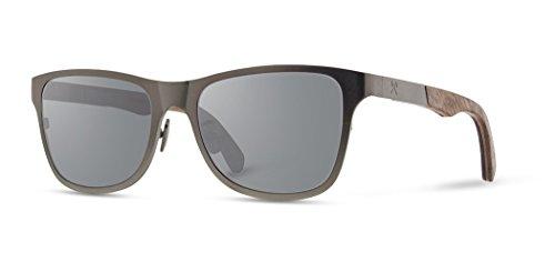 Shwood - Canby 2012-2017 Square Wood Sunglasses (Old Construction) - Gun Metal Titanium // Walnut