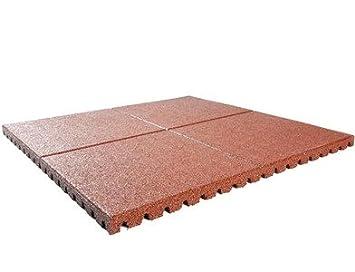 Fallschutzmatte 100 X 100 X 2 5 Cm Rot Fallschutzplatte